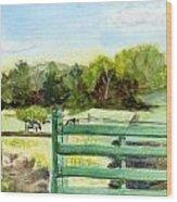 Tiffany Farms East Gate Wood Print