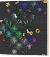 Tiffany Floral Design Wood Print