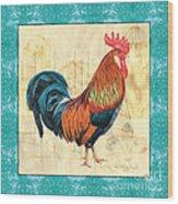 Tiffany Rooster 1 Wood Print by Debbie DeWitt