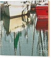 Tiffany Sailed From San Francisco To Moss Landing Wood Print