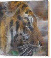 Tiger-5344-fractal Wood Print