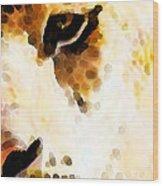 Tiger Art - Pride Wood Print by Sharon Cummings