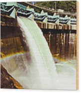 Tiger Creek Dam Wood Print