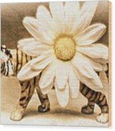 Tiger Dream Wood Print