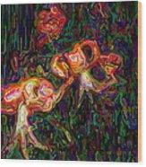 Tiger Lilies Abstract Wood Print