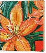 Tiger Lily Trio Wood Print