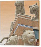 Tiger Town Wood Print