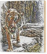 Tiger View Wood Print