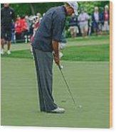 D12w-457 Tiger Woods Wood Print