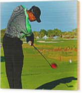 Tiger Woods  - Second Round Of The Honda Classic Wood Print