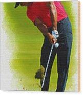 Tiger Woods - The Honda Classic Wood Print