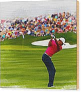 Tiger Woods - The Waste Management Phoenix Open  Wood Print