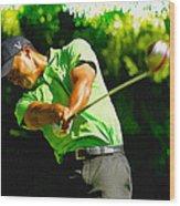 Tiger Woods - Wgc- Cadillac Championship Wood Print