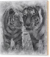 Tigers Photo Art 01 Wood Print
