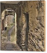 Tight Stone Alley Wood Print