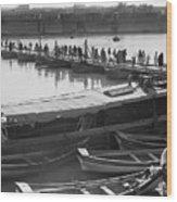 Tigris River Bridge Wood Print