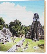 Tikal - Jaguar Temple And North Acropolis Wood Print