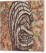 Tiki God Wood Print