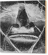 Tiki Mask Negative Wood Print