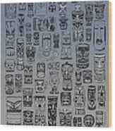 Tiki Nighttime Zone Wood Print