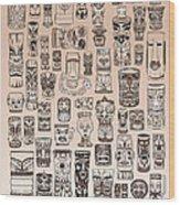 Tiki Sand Zone Wood Print