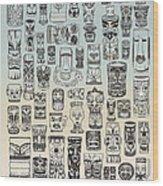 Tiki Time Zone Wood Print