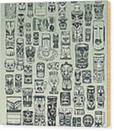 Tiki Treasure Zone Wood Print