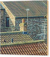 Tile Roofs - Thirsk England Wood Print