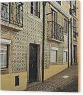 Tile Walls Of Lisbon Wood Print