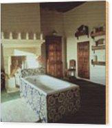 Tiled Bathroom In Pascualete Wood Print