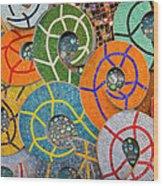 Tiled Swirls Wood Print
