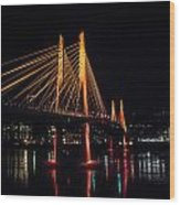 Tilikum Crossing Flooded With Light Wood Print by John Magnet Bell