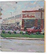 Tim Hortons By Niagara Falls Blvd Where I Have My Coffee Wood Print