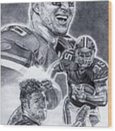 Tim Tebow Wood Print by Jonathan Tooley