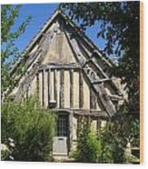 Timber A Frame Cottage Wood Print