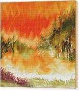 Timber Blaze Wood Print