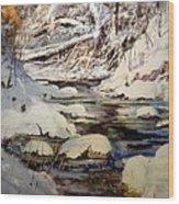 Timber Creek Winter Wood Print