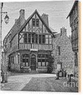 Timber Framed Houses In France Wood Print