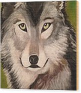 Timber Wolf In Summer Wood Print