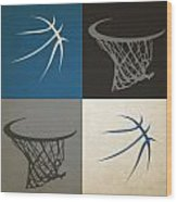 Timberwolves Ball And Hoop Wood Print