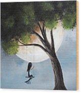 Time Alone By Shawna Erback Wood Print by Shawna Erback