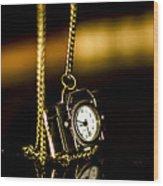 Time Wood Print by Amr Miqdadi