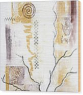 Time Branching Wood Print by Diana Perfect