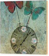 Time Flies Wood Print by Aimelle