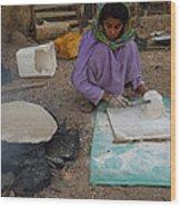 Time For Baking Bread Sinai Desert Egypt Wood Print