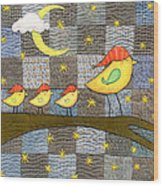 Time For Bed Wood Print by Julie Bull