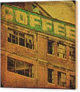 Time For Coffee Wood Print