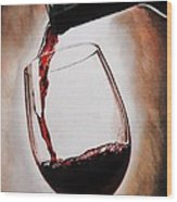 Time For Wine Wood Print