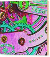 Time In Abstract 20130605p108 Wood Print by Wingsdomain Art and Photography