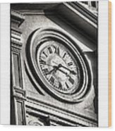 Time In Black And White Wood Print by Brenda Bryant